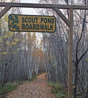 Scout Pond Boardwalk at the Corduroy Brook Nature Trails in GrandFalls-Windsor