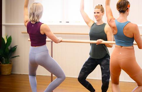 Barre pilates training session