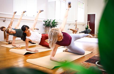 Mat Pilates trainning session