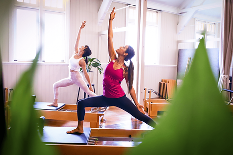 Reformer Pilates trainning session
