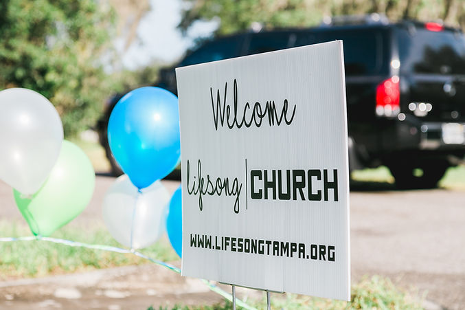 Welcome Sign at Lifesong Church