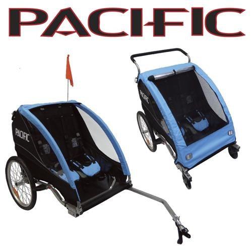 Pacific Deluxe 2 In 1 Trailer/Stroller - 2 Child 2021