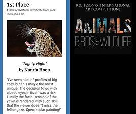 1e prijs Animals, Birds & Wildlife Richeson75 International Art Competition