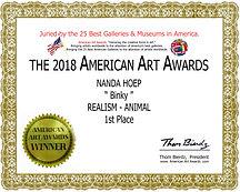 1e prijs American Art Awards