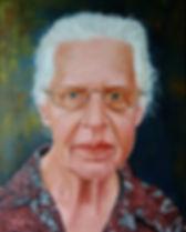Olieverfschildrij van een portret. Portretschilderij
