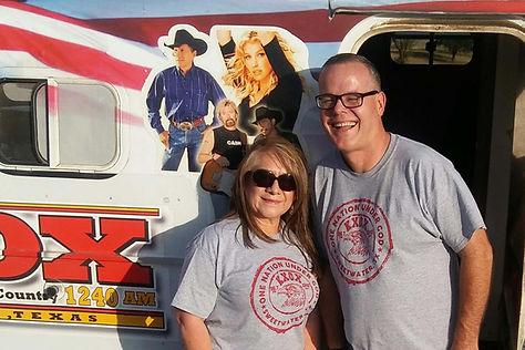 Rosie Tovar & Richard Ferguson of KXOX Radio