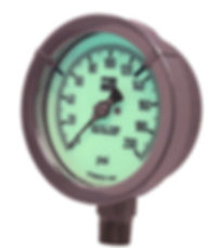 Sazety Zone Reflective Glow Gauge, Glow dial, Glow in the dark pressure gauge