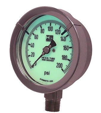 Sazety Zone Reflective Glow Gauge, Glow dial, Glow in the dark pressure gauge