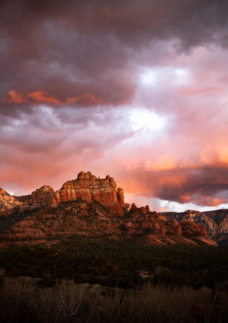 Red Clouds over Red Mountains