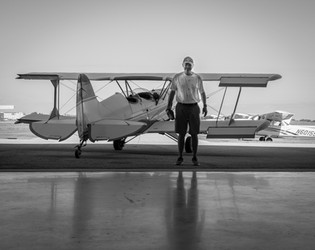 Man and his flying machine