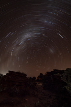 Southern Cross star trails