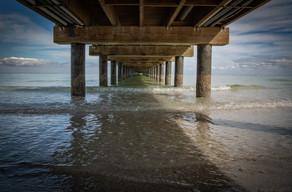 Under the Anna Maria pier