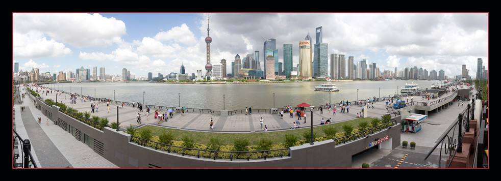 The Bund on a weekend