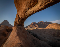Under a Natural Arch