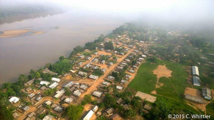Aerial view of Bayanga