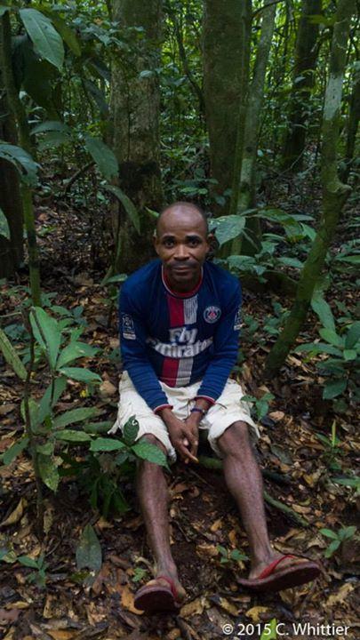 Ngombo, one of the Ba'aka trackers