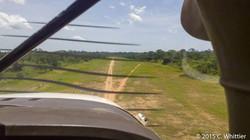 "Landing on the ""runway"" in Bayanga"