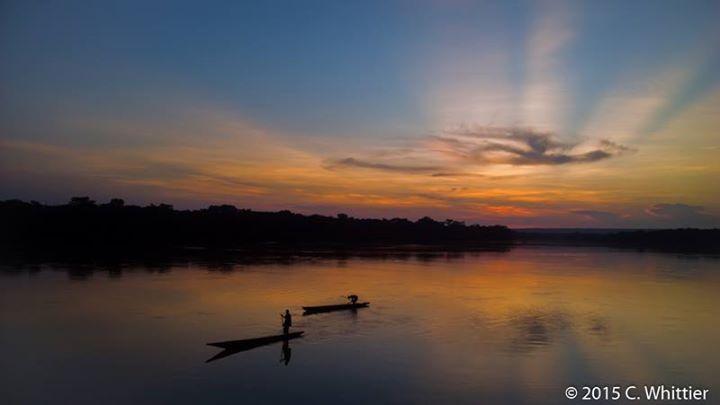 Sanga River sunset