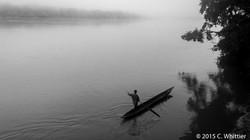 Foggy morning on the Sangha River