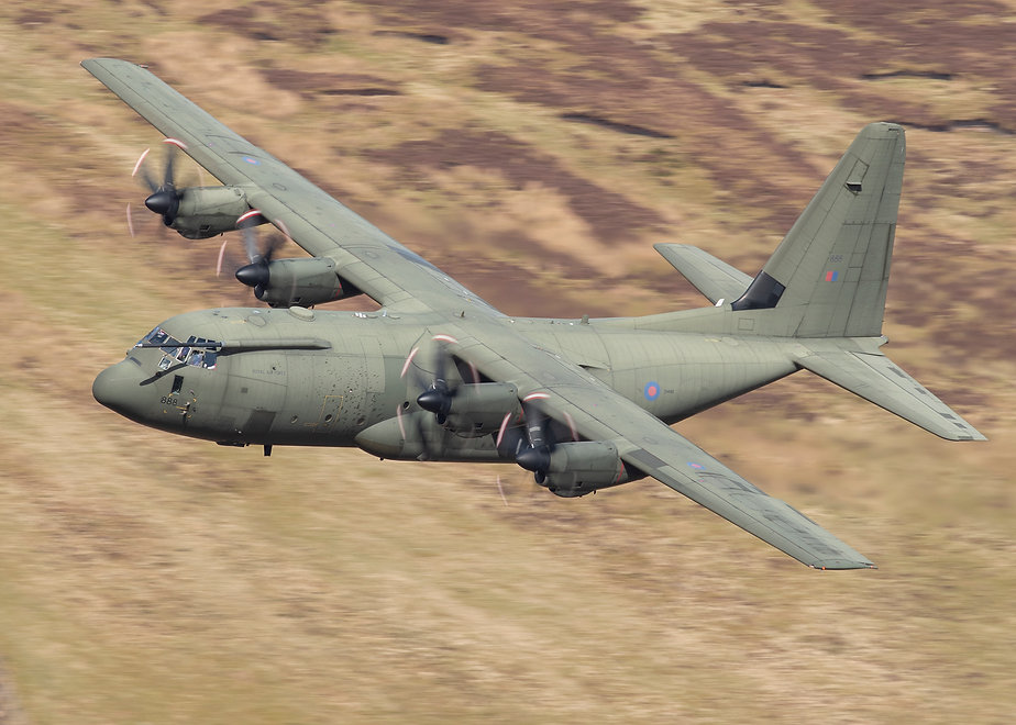 003 RAF C130 LOW LEVEL SCOTLAND ANDY SHE