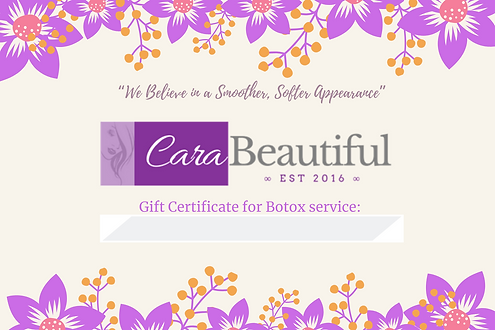 Copy of Gift Certificate- CaraBeautiful