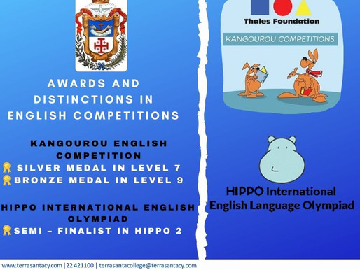 Awards and Distinctions in English Competitions