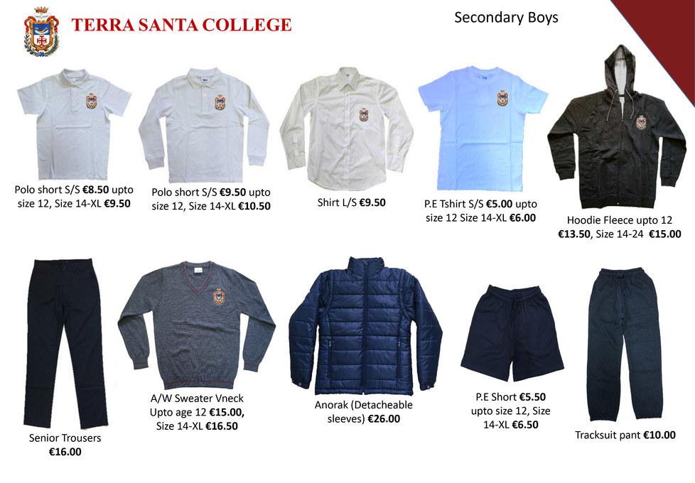 Terra Santa Secondary School Uniform lea