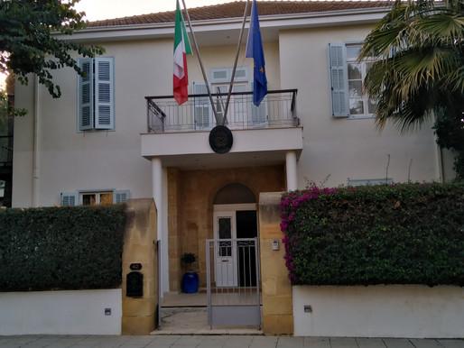 Τελετή βράβευσης των μαθητριών μας από τον Ιταλό πρέσβη στην Κύπρο