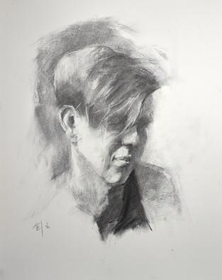 Charcoal Portrait by JJ Jiang