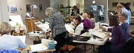 A watercolor class taught by NC artist JJ Jiang.