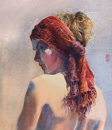 Fourth Place Award, Watercolor Society of North Carolina Annual Juried Exhibit, 2015, SOLD