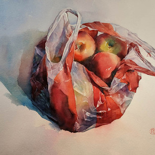 A Bag of Apples was selected for the American Watercolor Society 152nd Annual International Exhibition