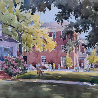 First Place Award, 3rd En Plein Air Paint the Town Competition, Cary, NC, 2016, SOLD