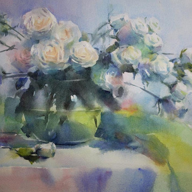 White & Green, selected for 2018 National Watercolor Society  Annual Member Exhibition
