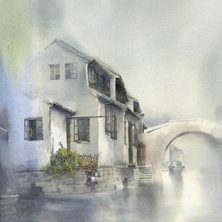 2008 Art & Graphics Award, Watercolor Society of North Carolina Annual Juried Exhibit, SOLD