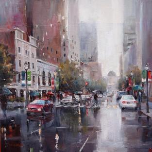 Rain Fall--the City of Oak, SOLD