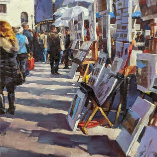 Montmartre Stroll, Paris. Selected for the 2021 Oil Painters of America Annual Salon Exhibit
