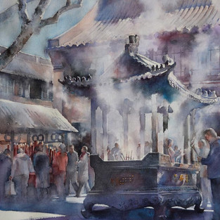 Offering - Signature Member Award, 2016 Watercolor Society of North Carolina Annual Juried Exhibit