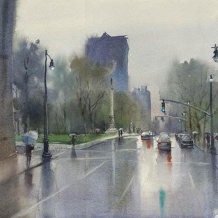 Rainfall, City of Oaks  2014 Watercolor Society of North Carolina Annual Juried Exhibit, SOLD