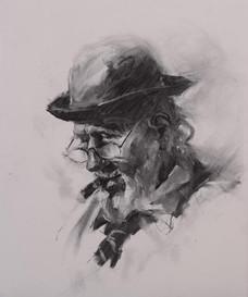 Old man and His Cigar
