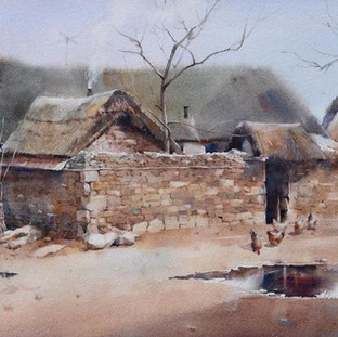 Yellow Earth, Selected for the National Watercolor Society 99th International Exhibition