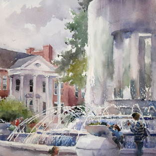 New Perspective, First Place Award, People's Choice Award, 4th En Plein Air Painting the Town Competition, Cary, NC, 2017, SOLD
