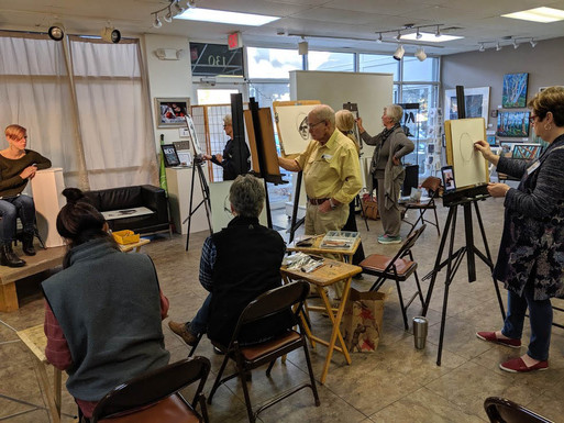 Charcoal Drawing/Painting Workshop