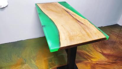 60*120 Cm Yeşil Renk Kafe Masası