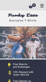 Mode & Bekleidung website templates – T-Shirt-Shop