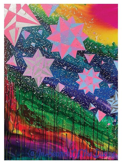 Cascading Starlight - A4 Art Print