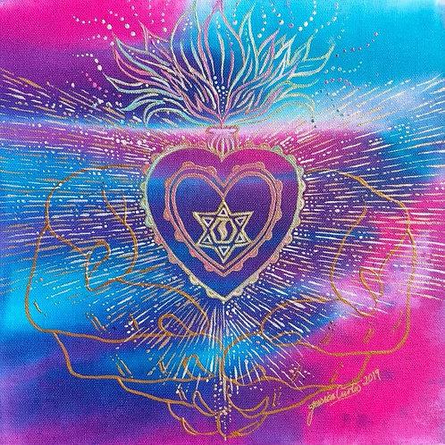 Immaculate Heart - A4 Art Print