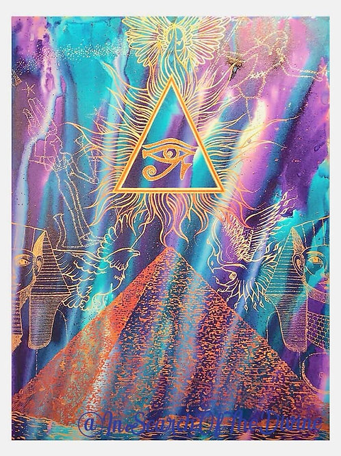 Ba Bak Bennu - Dove Hawk Phoenix - A3 Art Print