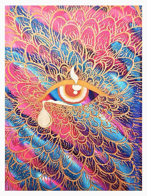 Agape - Eye of Compassion -A3 Art Print