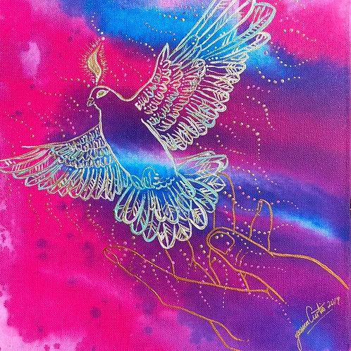 Spirit of Peace / Holy Spirit - A3 Art Print